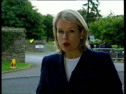 prince charles' birthday; nat england: gloucestershire: highgrove: i/c comedian rowan atkinson & wife sunitra arrive in car princes andrew and edward... - rowan atkinson stock videos & royalty-free footage