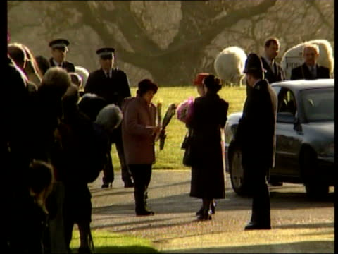 Prince Charles breaks shoulder in hunt fall POOL Norfolk Sandringham Queen Elizabeth II away towards car as leaving church approached by well wisher...