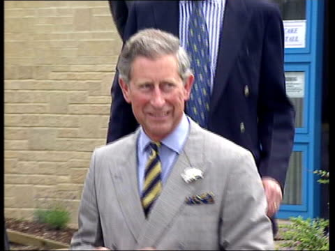 camilla parker bowles royal england gloucestershire prince charles prince of wales along on arrival at school fete pan ms charles meeting pupils ms... - school fete stock videos and b-roll footage