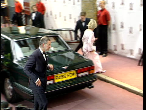 prince charles camilla parker bowles to attend celebrity dinner nn libby shoreditch ext press watching car containing camilla parker bowles prince... - camilla duchess of cornwall stock videos and b-roll footage