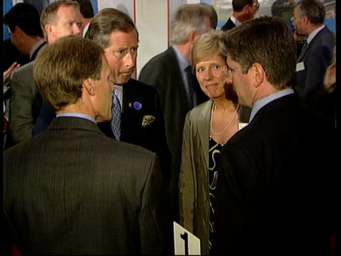stockvideo's en b-roll-footage met prince charles campaigns for young people in small business ***contains london ext prince charles taling with prime minister tony blair mp and... - william hague