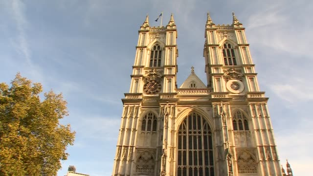 stockvideo's en b-roll-footage met prince charles celebrates 70th birthday: westminster abbey bells; england: london: westminster: westminster abbey: ext exterior of westminster abbey... - westminster abbey