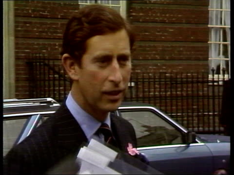 part 1 prince william born 115887 england london ext prince charles arriving at hospital / prince charles interview sot / prince and princess of... - montage stock videos & royalty-free footage