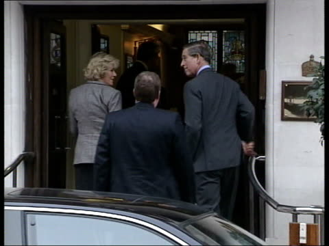 part 2 prince charles has hernia operation t28030303 england london ext prince charles and camilla parker bowles arriving at hospital - hernia stock videos and b-roll footage