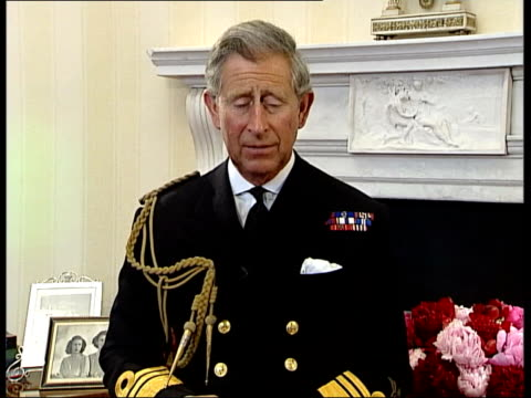 part 2 prince charles tribute on the 60th anniversary of dday t04060424 prince charles message of tribute to dday veterans sot - d day stock-videos und b-roll-filmmaterial