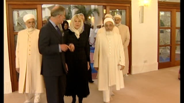 Prince Charles condemns persecution of Christians in Middle East LIB / 422009 Northolt Dawoodi Bohra Mosque Various shots of Prince Charles and...