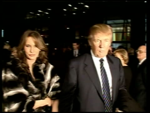 stockvideo's en b-roll-footage met prince charles duchess of cornwall visit the united nations and moma moma arrivals donald trump and wife melania trump arrive at reception as donald... - 2005