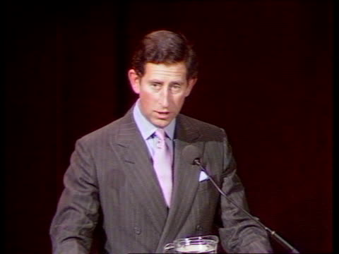 environment speech itn england london merchant taylors hall prince charles lr and shakes conservationist and presents him with award zoom in tbv... - environmental media awards stock videos & royalty-free footage