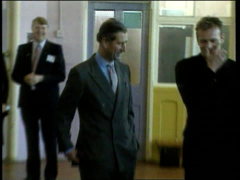 fiftieth birthday c4n u'lay england sheffield int ms people in centre reenacting dole queue dance from film the full monty as prince charles at end... - sheffield stock videos and b-roll footage