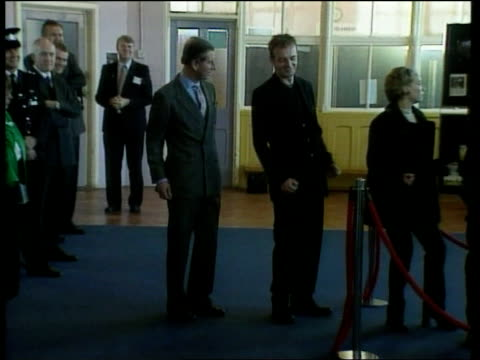 fiftieth birthday itn england sheffield ext gv people lining reenacting dole queue scene from film the full monty where characters dance to donna... - enacting stock videos & royalty-free footage
