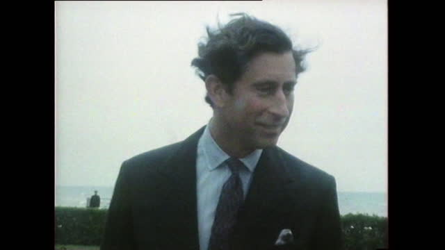 prince charles gives a humorous response to a reporter after he tried out breakdancing during a visit; 1985. - nostalgia stock videos & royalty-free footage
