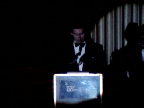 prince charles gives speech at dinner and jokes about being seated beside angie dickinson and farrah fawcett 1977 - farrah fawcett stock videos and b-roll footage