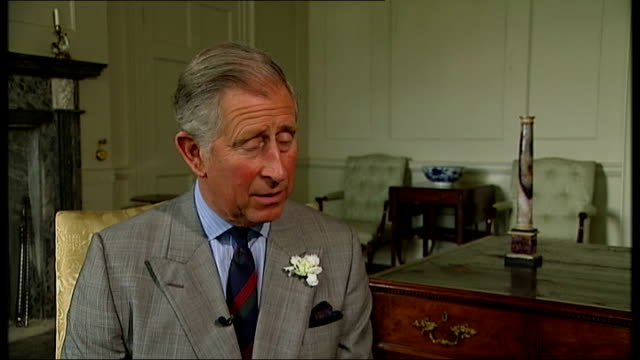 prince charles helps transform stately home dumfries house channel 4 news exclusive can be reused by all itn outlets int prince charles interview sot... - channel 4 news stock videos and b-roll footage