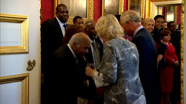 prince charles hosts caribbean reception at st james's palace gvs reception more gospel choir watched by royal couple / prince charles and camilla... - whitney houston stock-videos und b-roll-filmmaterial