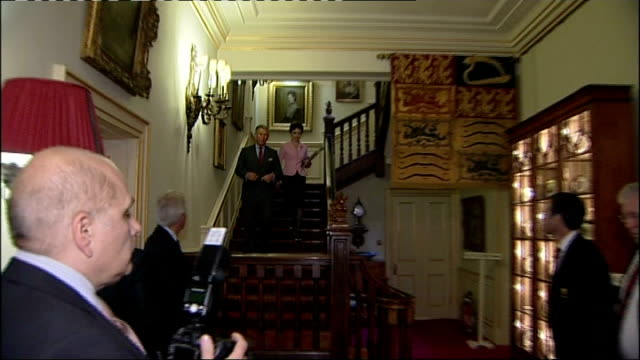 prince charles hosts reception for wales national union rugby team; int * * beware flash photography * * * * classical music heard playing in... - wales stock videos & royalty-free footage