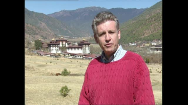 day two part one bhutan thimphu ext nicholas owen i/c - thimphu stock videos & royalty-free footage