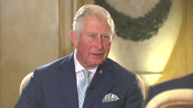 prince charles interview; prince charles interview sot - [re focus on oceans] - it's very odd isn't it, because we concentrate on the land / the... - see other clips from this shoot 1900 stock videos & royalty-free footage