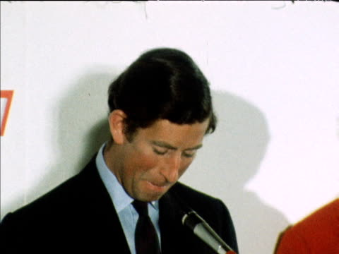 prince charles jokes about press speculation on his plans for marriage during speech at press awards dinner london 1978 - award stock videos & royalty-free footage