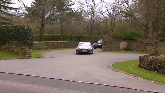 """prince charles leaves highgrove house to visit his mother, the queen, after the death of prince philip, duke of ednburgh - """"bbc news"""" stock videos & royalty-free footage"""