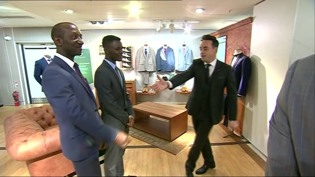stockvideo's en b-roll-footage met prince charles letters to ministers published int prince charles being led into store by anthony mcpartlin [one half of ant and dec double act]... - declan donnelly