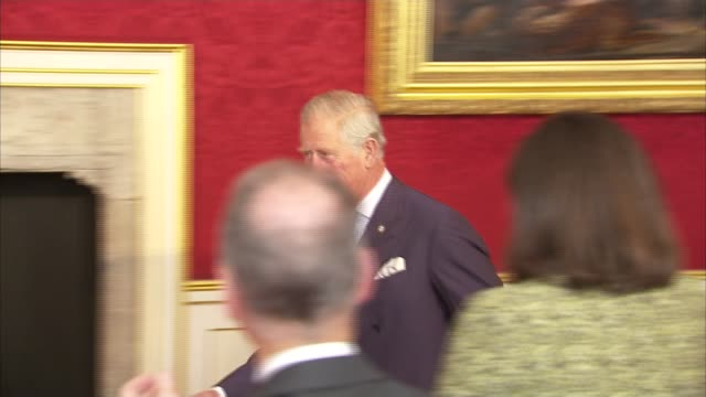 Prince Charles letters to ministers published St James's Palace INT Prince Charles applauded by guests as entering room at Prince's Trust reception