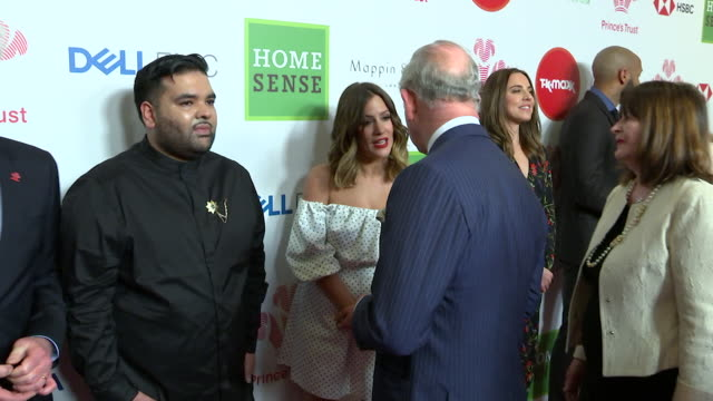 prince charles meeting caroline flack at the princes trust awards 2018 she tells him about love island - 2018 stock videos & royalty-free footage
