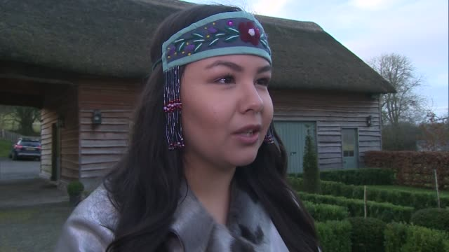 prince charles meets canadian inuits in llandovey; wales: llandovey: ext maatalii okalik interview sot int **beware flash photography** prince... - inuit stock videos & royalty-free footage