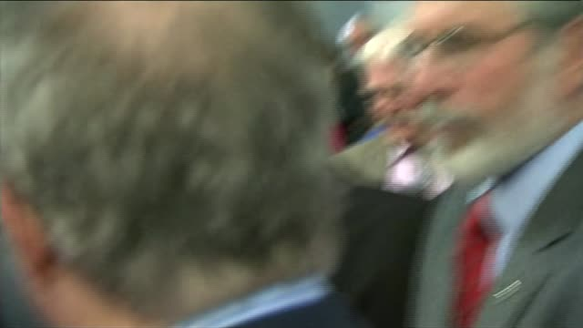 prince charles meets gerry adams republic of ireland galway int pricne charles and gerry adams shaking hands together and chatting - gerry adams stock videos and b-roll footage