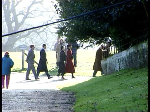 Prince Charles misses Sandringham service after hunt fall POOL Norfolk Sandringham Members of Royal household along to church LMS Queen Elizabeth II...