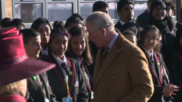 prince charles of wales paid a visit to the city of leicester college. he met students helped by two programmes run by his charity, the prince's... - advice stock videos & royalty-free footage