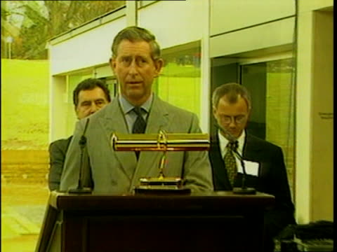 Prince Charles opens Millennium Seed Bank ***CONTAINS West Sussex Prince Charles during visit to Seed Bank laughing as something breaks off screen
