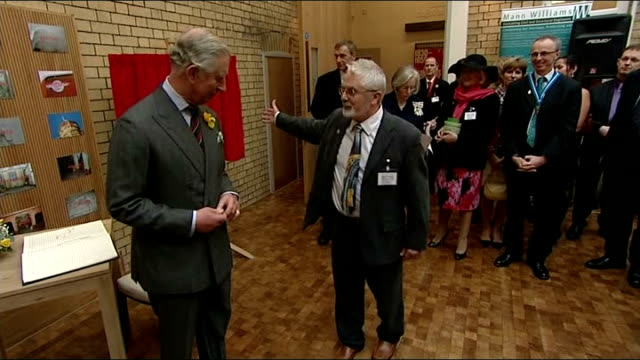 prince charles opens restored merthyr tydfil old town hall more shots of charles mingling at reception / charles signing visitor's book / prince... - signierstunde stock-videos und b-roll-filmmaterial