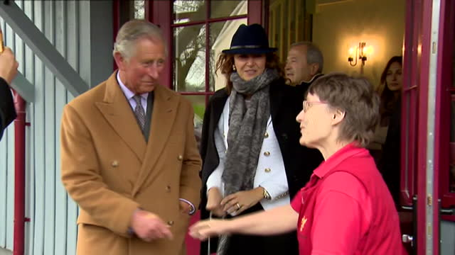 prince charles opens sports centre in ayr. shows exterior shots prince charles departing sports centre & getting into land rover. on april 29, 2015... - ayr stock videos & royalty-free footage