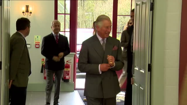 prince charles opens sports centre in ayr. shows interior shots prince charles arriving at sports centre & being greeted by guests before speech. on... - ayr stock videos & royalty-free footage