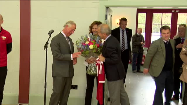 prince charles opens sports centre in ayr. shows interior shots prince charles talking with guests and people involved in local sports. on april 29,... - ayr stock videos & royalty-free footage