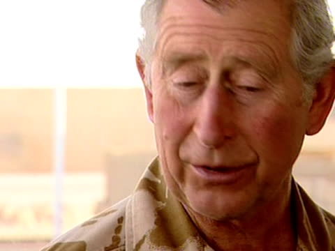 prince charles praises efforts of british armed forces during trip to afghanistan 25 march 2010 - 2001年~ アフガニスタン紛争点の映像素材/bロール