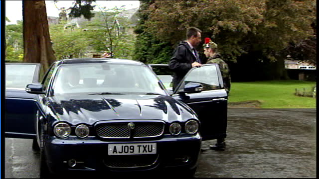 prince charles presents afghanistan campaign medals to black watch scotland perth balhousie castle ext motorcade of prince charles arriving as... - schottenkaro stock-videos und b-roll-filmmaterial