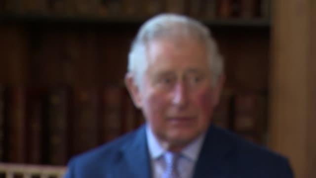 prince charles presents cranmer awards at lambeth palace; england: london: lambeth palace: ext prince charles, prince of wales, arrival for the... - lambeth stock videos & royalty-free footage