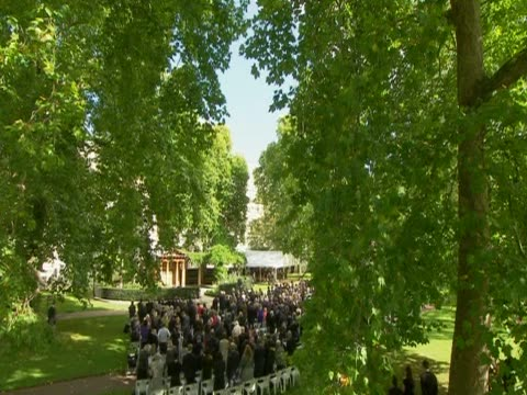 stockvideo's en b-roll-footage met prince charles prime minister david cameron and mayor of london boris johnson attend a remembrance ceremony in grovesnor square on the 10th... - number 9