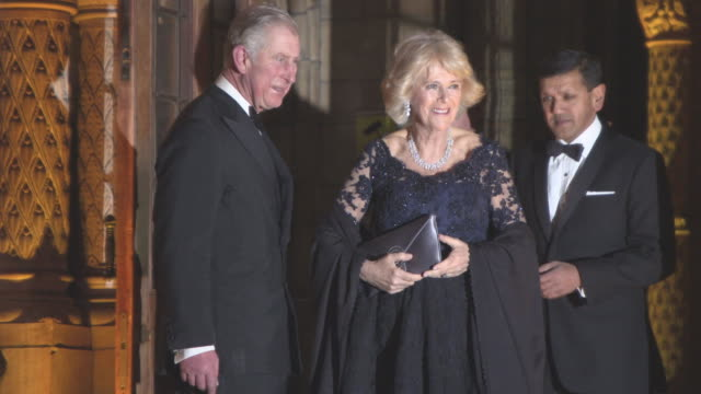 Prince Charles Prince of Wales and Camilla Duchess of Cornwall at The Prince's Charity The British Asian Trust gala dinner at the natural history...