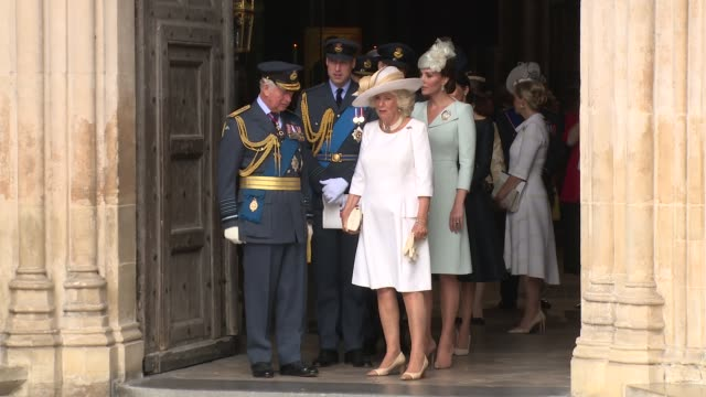 prince charles prince of wales and camilla duchess of cornwall prince william duke of cambridge catherine duchess of cambridge prince harry duke of... - elizabeth ii stock videos & royalty-free footage