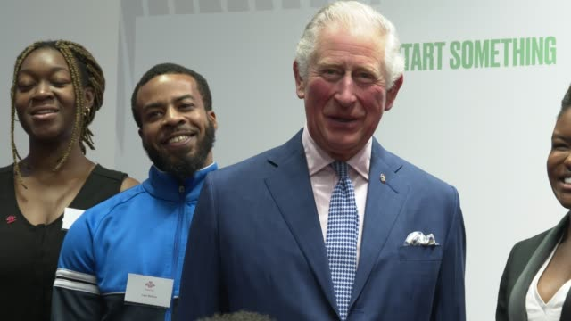 prince charles, prince of wales, ant middleton, nicola adams, ashley walters, humza arshad at the prince of wales opens the prince's trust south... - prince of wales stock videos & royalty-free footage