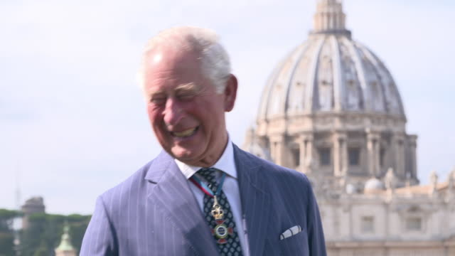 VAT: The Prince of Wales attends the Canonisation of Cardinal Newman at the Vatican