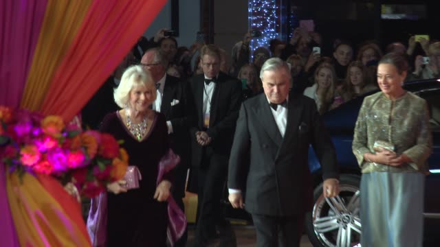 BROLL Prince Charles Prince of Wales Duchess of Cornwall Camilla at 'The Second Best Exotic Marigold Hotel' premiere at Odeon Leicester Square on...