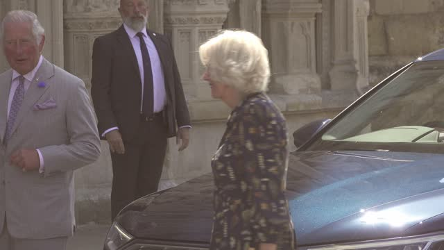 GBR: The Prince Of Wales and The Duchess of Cornwall visit Exeter Cathedral, Exeter.