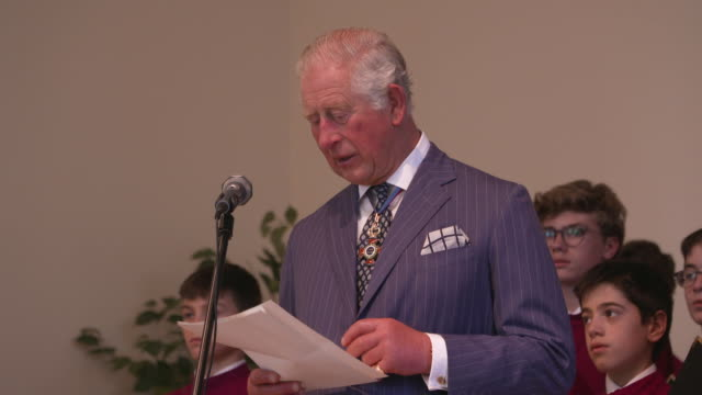 prince charles, prince of wales on cardinal newman at the prince of wales attends the canonisation of cardinal newman at the vatican on october 13,... - チャールズ皇太子点の映像素材/bロール