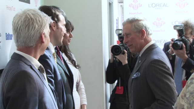 prince charles prince of wales, philip schofield, gareth southgate, christine bleakley at the the prince's trust celebrate success awards arrivals at... - phillip schofield stock videos & royalty-free footage