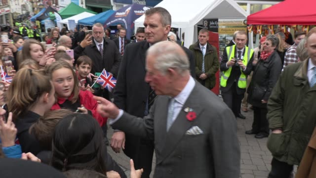 prince charles, prince of wales visits ross-on-wye where he will officially launch the gilpin 2020 festival on november 05, 2019 in ross-on-wye,... - prince of wales stock videos & royalty-free footage