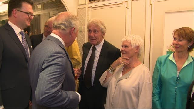 prince charles receives award at the fortnum and mason food and drink awards; england: london: piccadilly: fortnum and mason: prince charles, prince... - ジュディ・デンチ点の映像素材/bロール