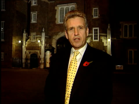 opinion poll results bnat nicholas england london st james's palace ext/night owen i/c - ideas stock videos & royalty-free footage